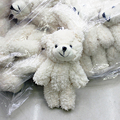 50pcs/lot Mini Joint Teddy Bear plush toys chain white gummy bears 12cm animal for Wedding peluches bicho ursinho de pelucia