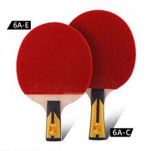 1 keping 6A-C (Grip mendatar) / 6A-E (Lurus lurus) ping pong dua ikan raket bintang-ping untuk pemula dan sederhana