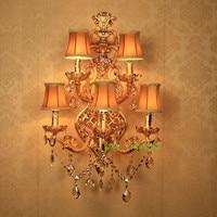 Bathroom Light Fixtures Hotel Hall Sconce Living Room Large Wall Lights Bathroom Vanity Light Crystal Wall Lamp Modern Sconce