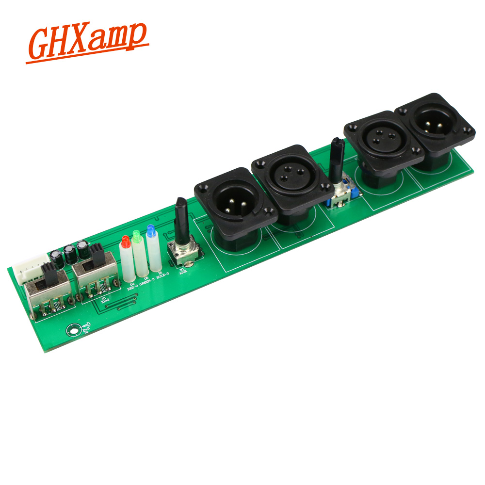 Ghxamp  Subwoofer Bass Amplifier Preamplifier Board With Adjustable Frequency Adjustable Phase DC +-12V Overload Indication 1pc