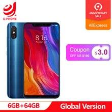 Küresel Sürüm Xiao mi mi 8 6 GB 64 GB 6.21