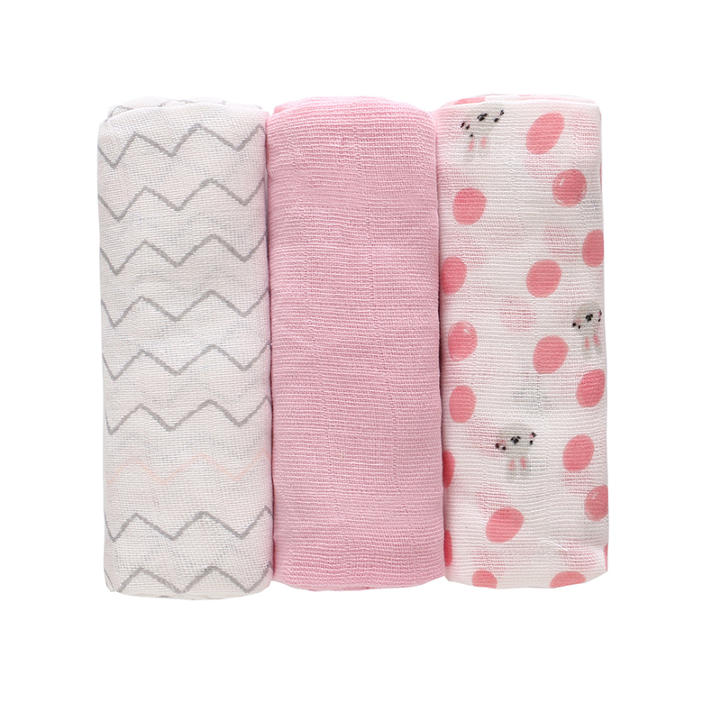 3PCS Washable Baby Cloth Diaper Newborn Muslin Gauze Cotton Nappy Liners Breathable Diapers Insert Infant Nappy Changing Unisex