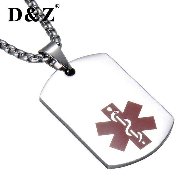 Dz emergency medical nurse silver necklace stainless steel alert dz emergency medical nurse silver necklace stainless steel alert paramedic badge star of life dog tag aloadofball Images