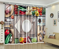 Kitchen curtains 3d window curtain for living room bedroom decoration Hotel Office drapes Cortinas para sala Dormitorio Rideaux