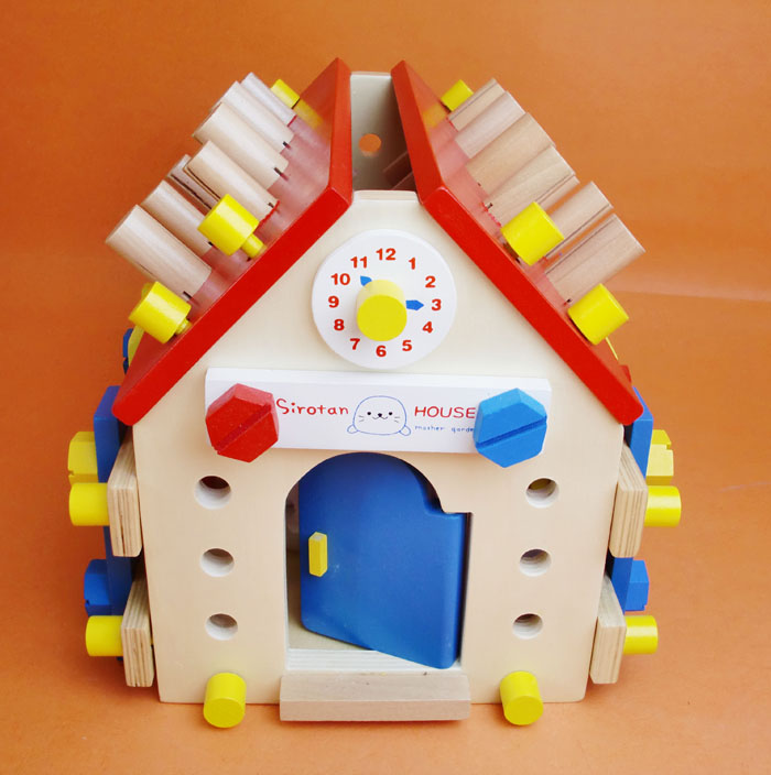 ФОТО Wooden children's educational toys nut combination disassembly intellectual toy boy toy building demolition