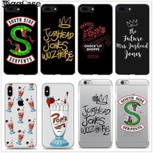 For iphone 7 American Hot TV Riverdale Painted Phone Cover For iphone X 8 7 6 6S Plus 5 5S SE XS MAX XR TPU Soft Silicone Cases(China)