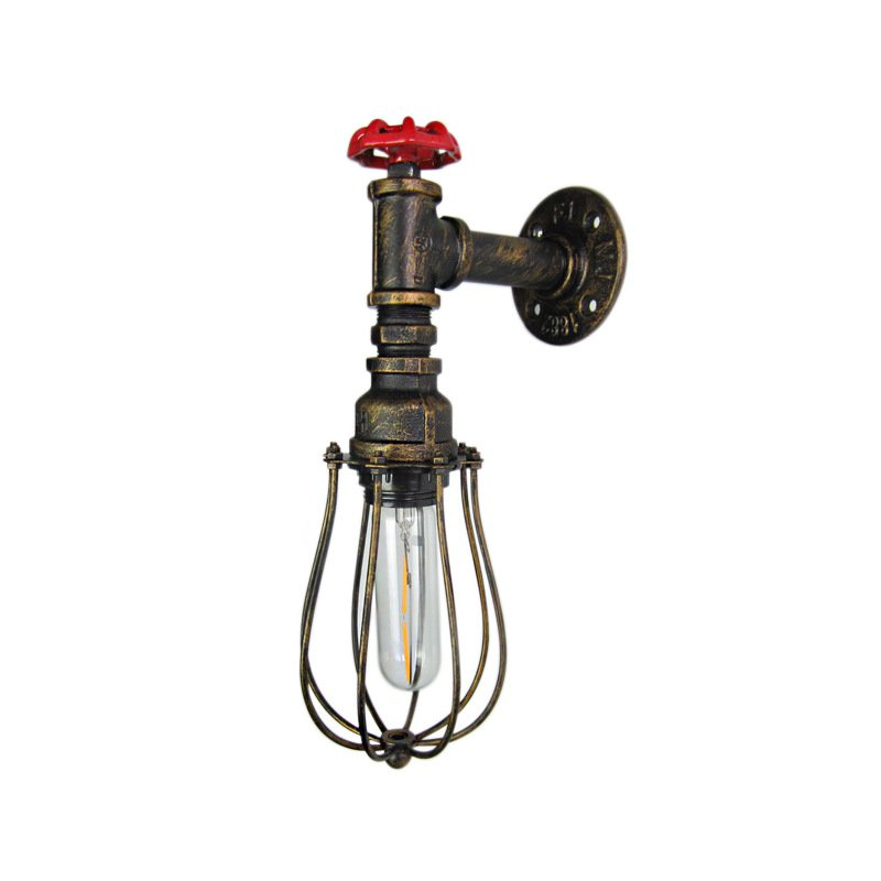 Creative Water pipe Cage Wall Lamps Retro Industrial Wind Loft E27 Wall Light For Restaurant Bedside Fixtures Home decoration Creative Water pipe Cage Wall Lamps Retro Industrial Wind Loft E27 Wall Light For Restaurant Bedside Fixtures Home decoration