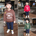 SUPNEKUA Boy Girls Sweater Clothes Children's thick Sweatshirts baby Fawn pattern Casual Kids Plus velvet thick Tops Costume