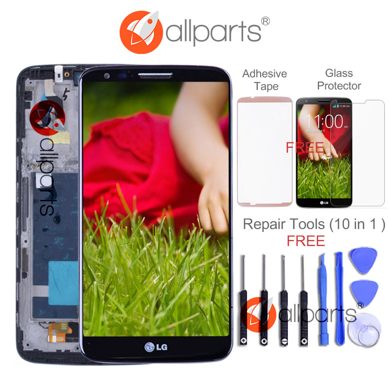 ORIGINAL 5.2'' LCD for LG G2 D802 Display Touch Screen Digitizer Replacement for LG G2 D800 LCD D801 D805 D803 VS980 F320 LS980