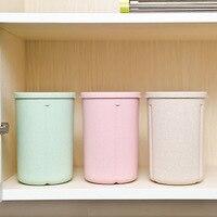 1Pcs Storage Jars Home Kitchen Storage Bottles Wheat Straw Food Grains Crisper Grains Tank Storage Jar Container Color Random