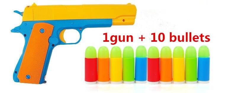 Nice Classic m1911 Toys Mauser pistol Children's toy guns Soft Bullet Gun plastic Revolver Kids Fun Outdoor game shooter safety