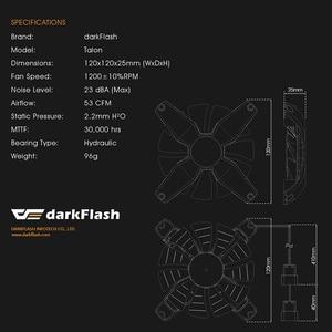 Image 5 - DarkFlash RGB PC boîtier ventilateur ordinateur de bureau Ultra silencieux haut débit dair sans cadre refroidisseur refroidissement 12V 4pin ventilateurs de jeu châssis cas