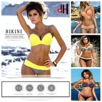 2017 New Sexy Bikini Push Up Swimwear Women Swimsuit Retro Vintage Bikini Set Beach Plus Size