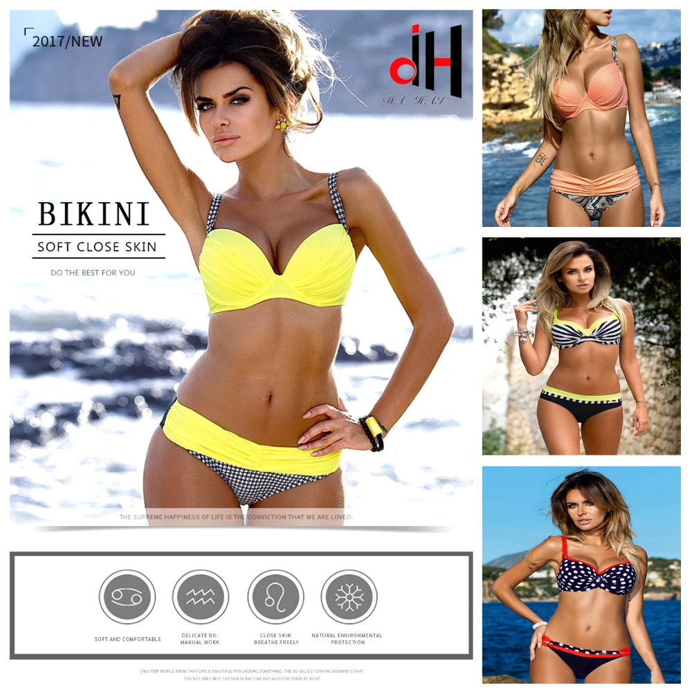 DA HAI Brand swimwear women Bikini 2017 New Brazilian Sexy swimsuit Push Up  maillot de bikinis set mayo bather Size XXL K2870