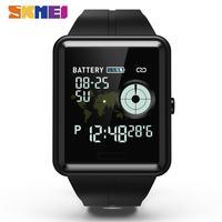 SKMEI الرياضة ساعة ذكية الرجال للماء Corolful Smartwatch الرجال Fintness النوم المقتفي Relogio Inteligente لالروبوت IOS W37