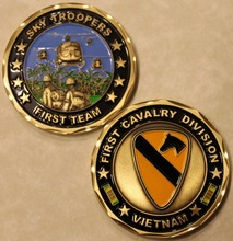 1st Cavalry Division Vietnam Army Challenge Coin,3pcs/lot Free shipping