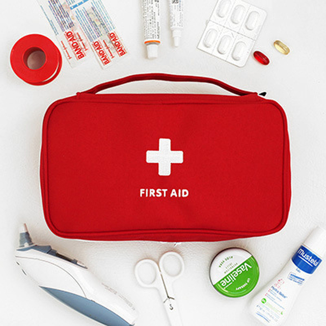 Korean Style First Aid Kit Bag Case Military Survival Travel First Aid Kit Pouch Large Portable Cheap Emergency Bag Waterproof