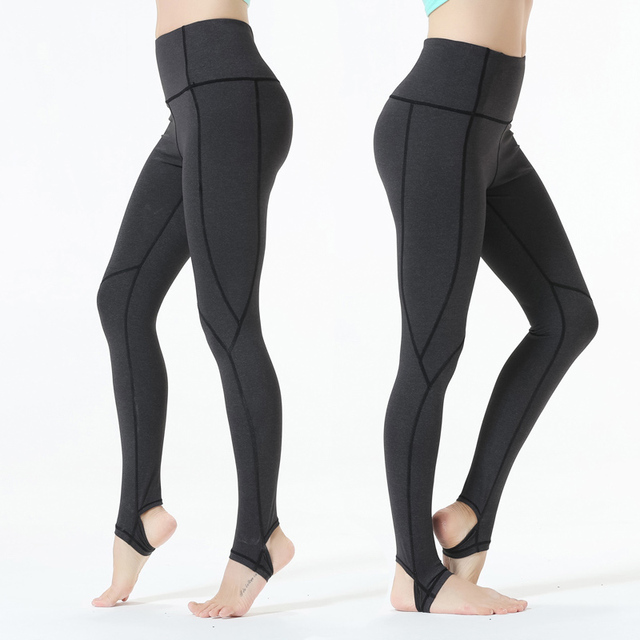 80f19b7254c0c8 Eagle Rock Yoga Step on foot Fit Sport Pants Elastic Fitness Gym Pants  Workout Running Tight Sport Female Trousers