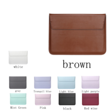 New Leather Sleeve Bag Stand Cover For Apple Macbook Air Retina 11 12 13 15 Laptop Case For new Pro 13.3 inch air 13.3 inch все цены