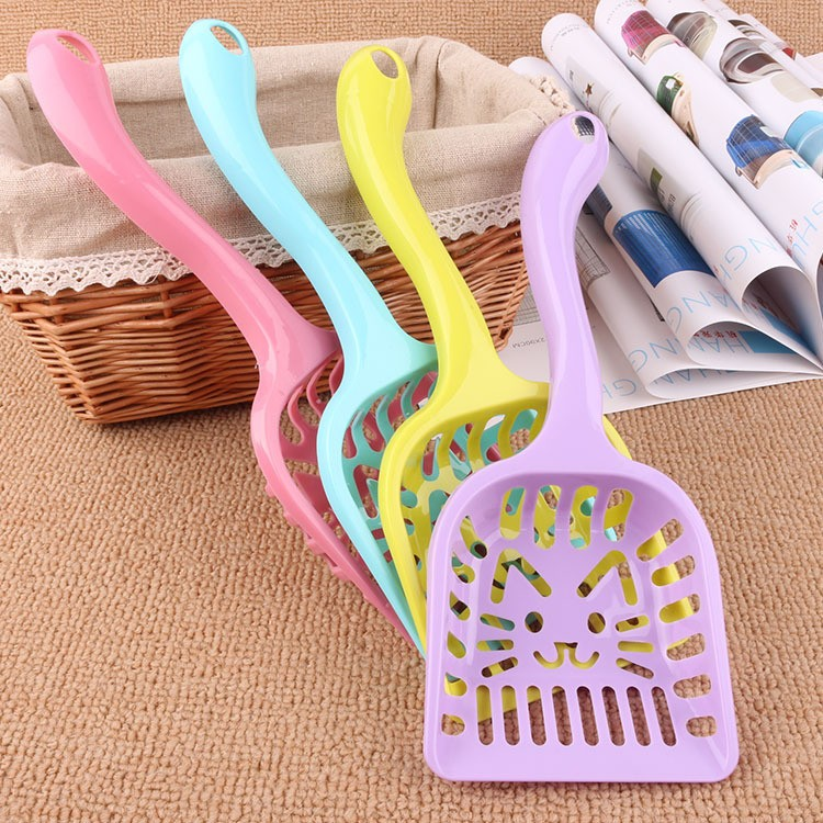 New Pet Products Shovel Cat Litter Plastic Scoop Cat Sand Cleaning Dog Food Spoons Cat sand shovel Pet Supplies PH45 (6)