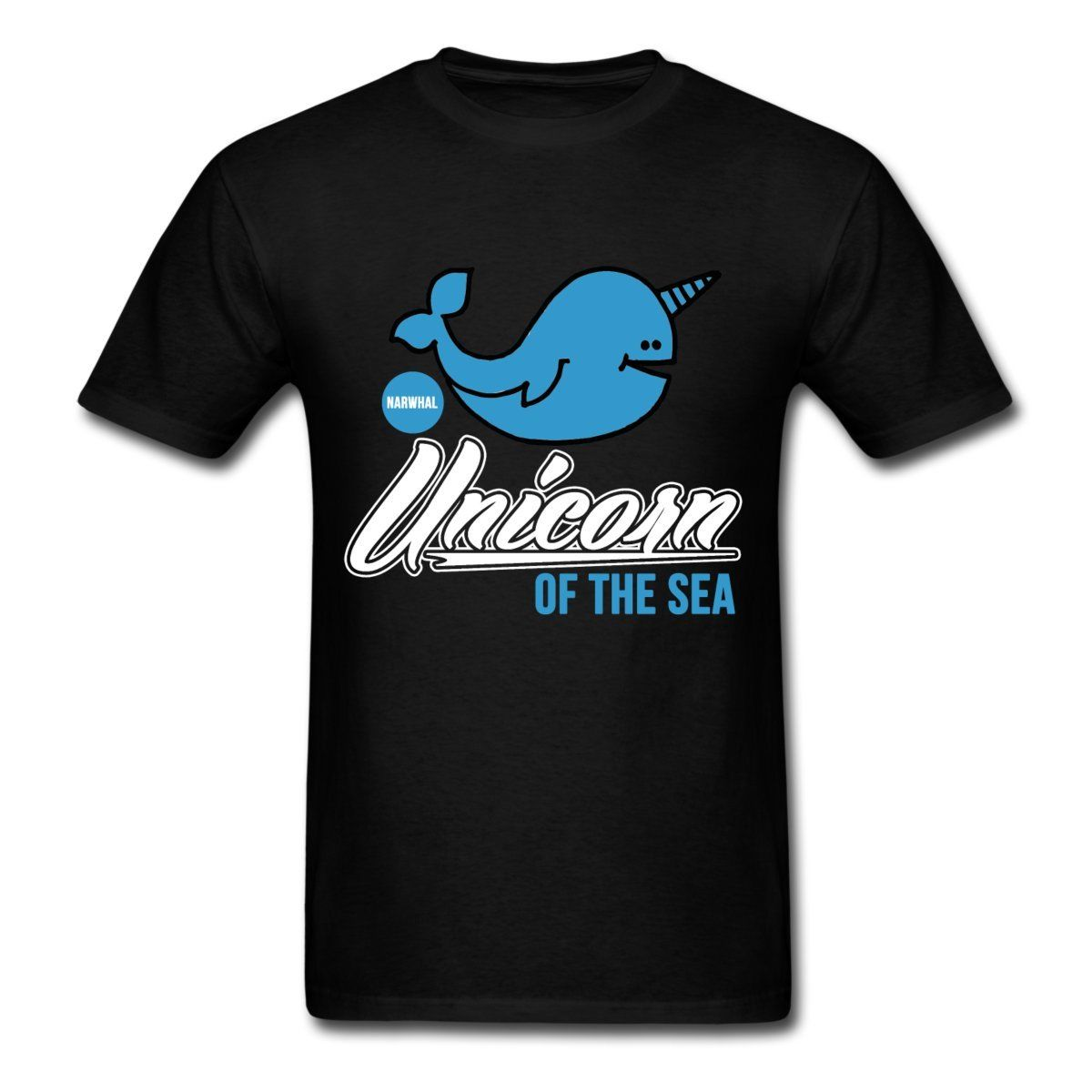 Narwhal Funny Unicorn Of The Sea Mens T-Shirt Print T Shirt Men Summer Style Fashion Short Sleeve O-Neck Cotton T shirt