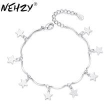 Silver Bracelet Luxury Stars Brand Jewelry Fashion Original Gift 16 4CM Female Simple