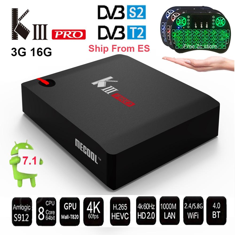 MECOOL KIII PRO 3G 16G DVB-S2 DVB-T2 DVB-C Android 7.1 Amlogic S912 set top box Support 2.4G/5G WIFI BT4.0 CCCAM NEWCAMD IPTV mecool kiii pro 3g 16g dvb s2 dvb t2 dvb c android 7 1 amlogic s912 set top box support 2 4g 5g wifi bt4 0 cccam newcamd iptv