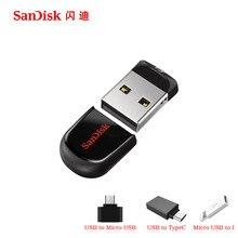 100% Оригинал SanDisk Cruzer Fit SD CZ33 64 ГБ 32 г 16 ГБ 8 ГБ мини ручка накопители USB 2.0 Поддержка официальный проверки