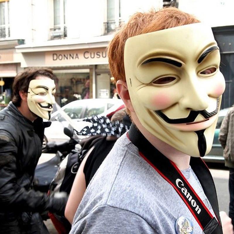 2 VENDETTA maschera Halloween Party Costume Accessori Guy Fawkes
