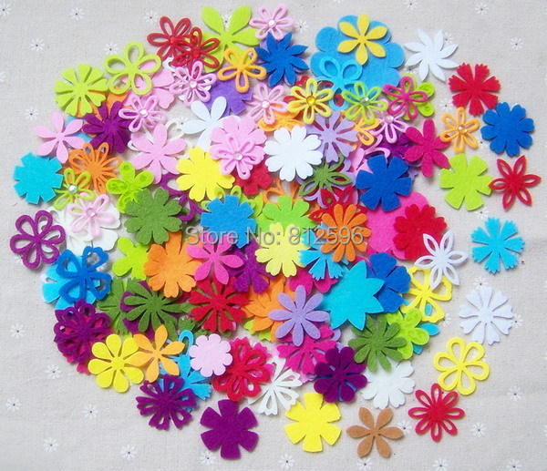 Free shipping 100pcs 1 5 artificial decorative flowers for Decorative flowers for crafts