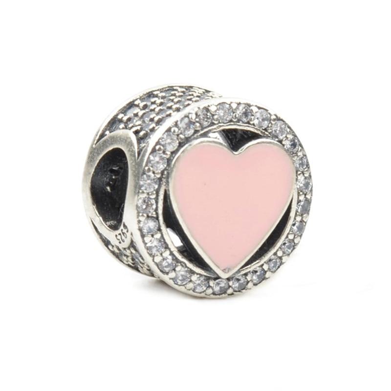 Fit Original Pandora Charm Bracelet 100% 925 Sterling Silver Beautiful Bead Charm DIY Bead Fashion Bijoux Jewelry Joyas Berloque