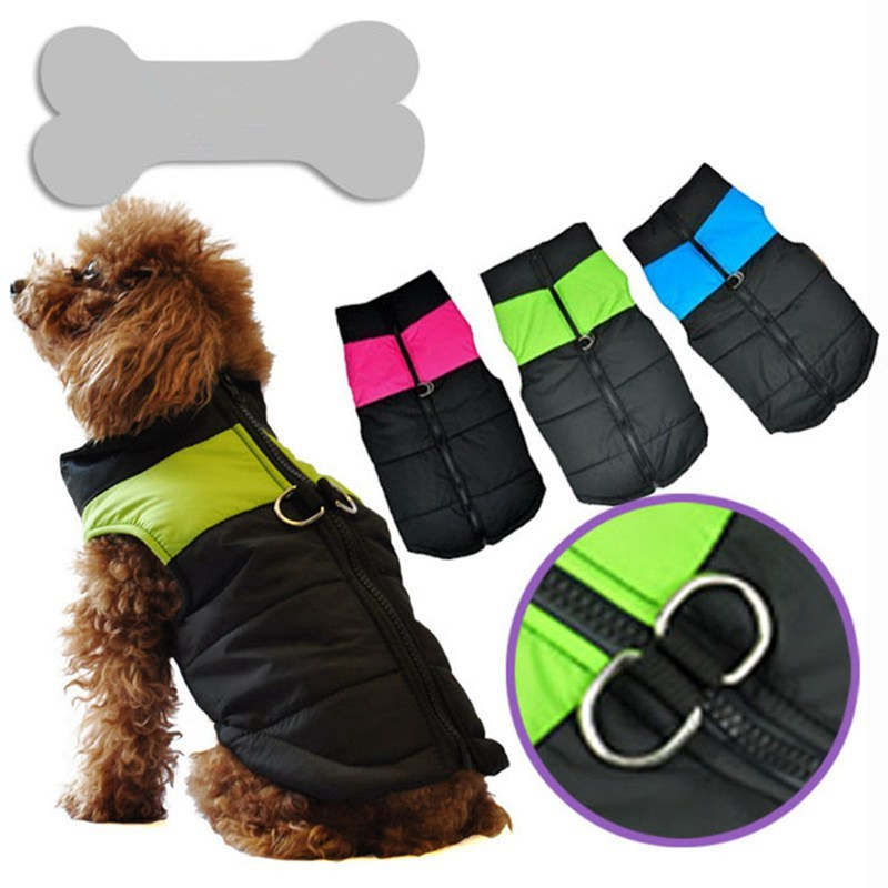 Modern Dog Clothes For Small Medium Dogs Waterproof Pet Puppy Vest Jacket Warm Winter Coat Cute Dogs Clothes 3 Colors Size XS-XL