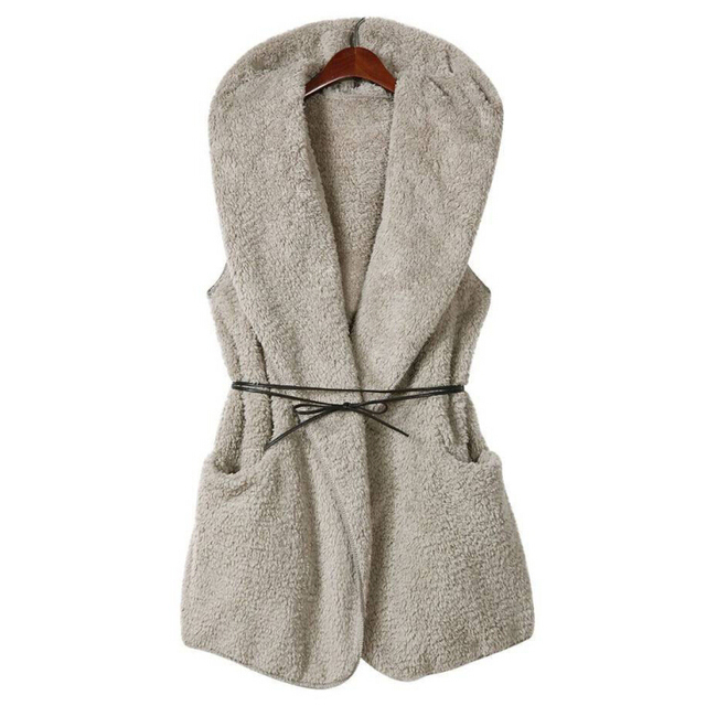 Fall/winter padded coat long fur imitation lambs wool cashmere coat to keep warm plus size vest