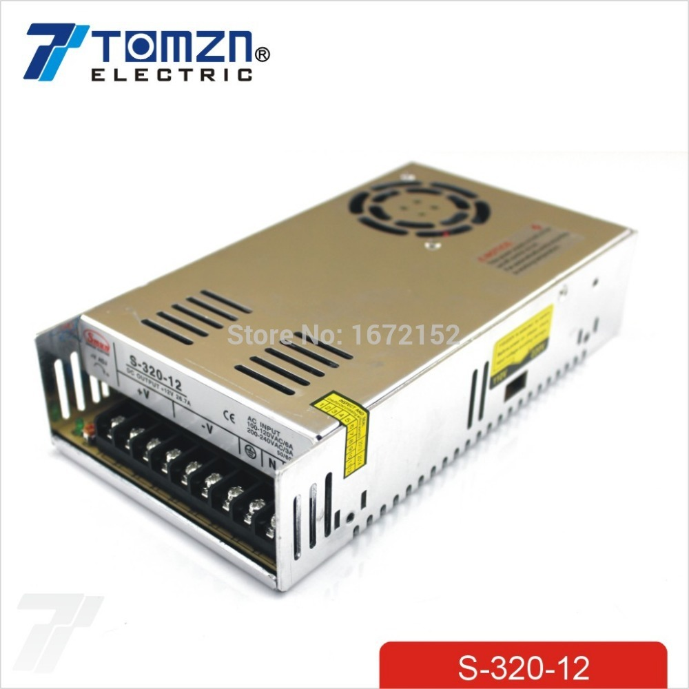 320W 12V 26.7A Single Output Switching power supply for LED Strip light AC to DC 110V 200V selected by switch 350w 60v 5 8a single output switching power supply ac to dc for cnc led strip