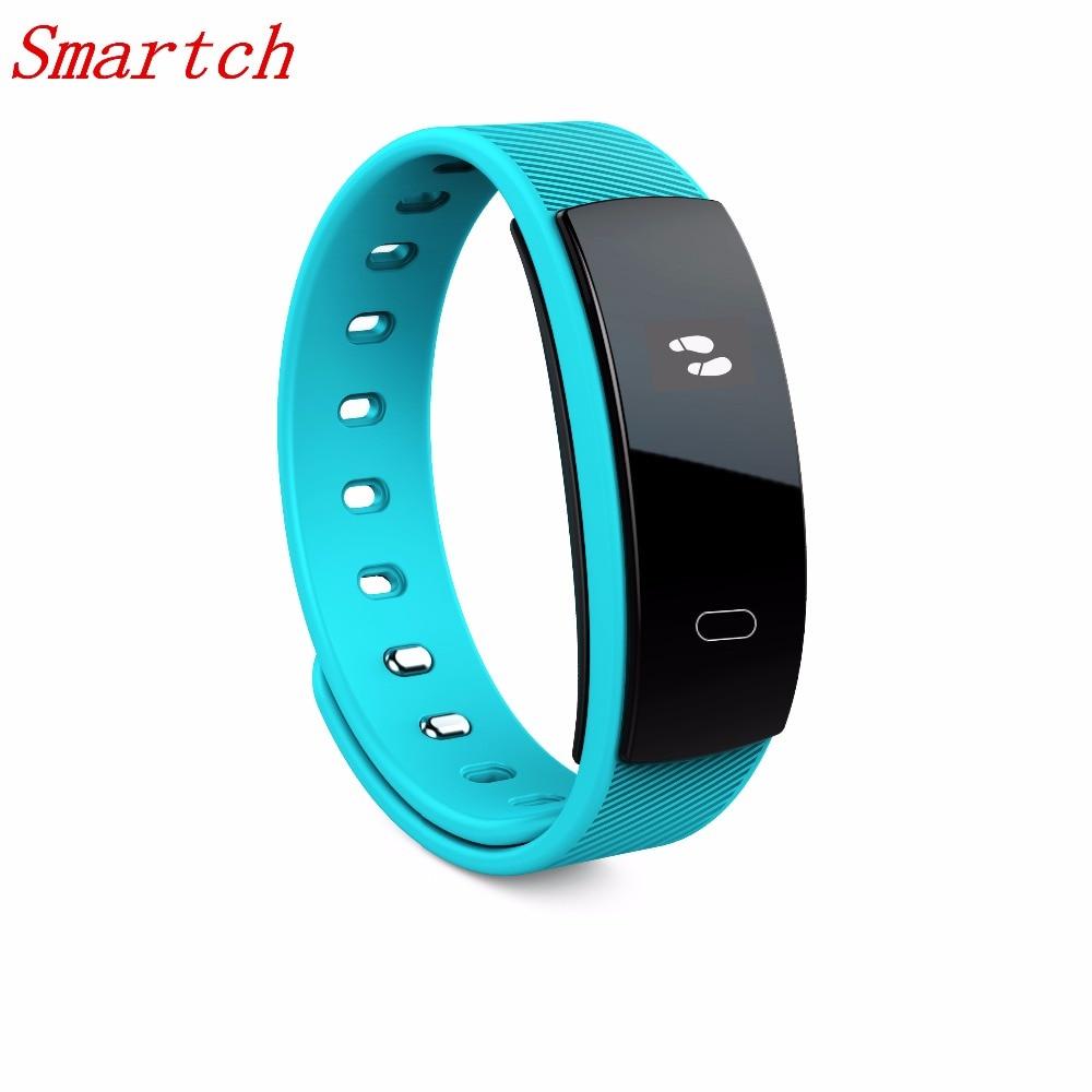 Smartch New QS80 font b Smart b font Bracelet Heart Rate Blood Pressure Fitness Tracker font