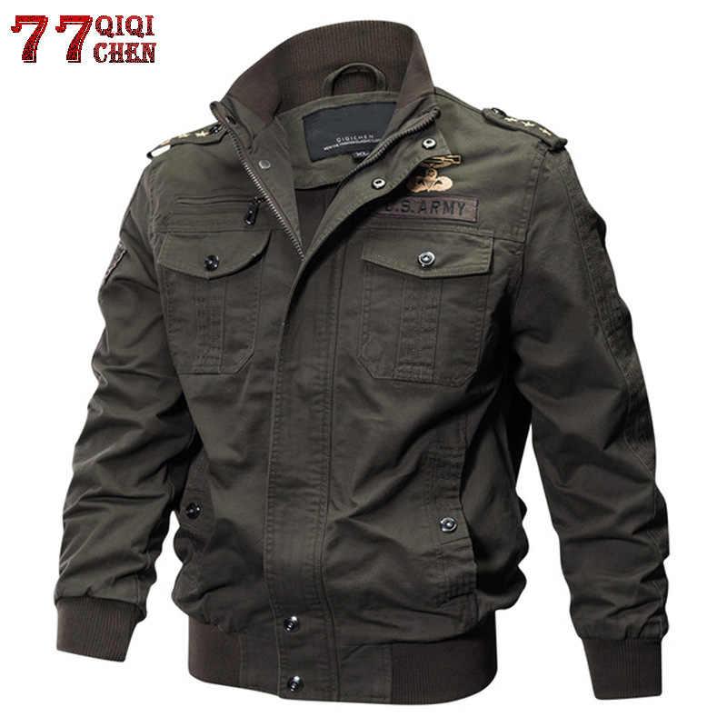 77 市キラー秋冬軍事戦術ジャケット男性プラスサイズ 5XL 6XL 綿ボンバージャケット貨物フライトジャケット生き抜く