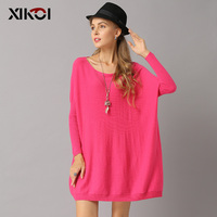 XIKOI Autumn Winter Women Oversize Sweaters And Pullovers Sueter Mujer 2018 New Casual Knitted Solid Pull