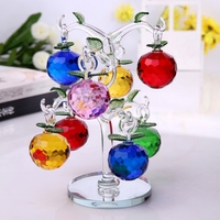 modern minimalis crystal apple tree ornaments crafts creative fruit figurines home decoration Feng Shui accessories wedding gift