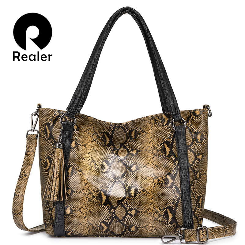 Más real de lujo bolsos de las mujeres bolsos de diseñador de mujer bolsa de hombro serpentina bolso borla bolso mensajero bolsa-in Bolsos de hombro from Maletas y bolsas    1
