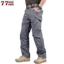 Tactical Pants Army Military Style Cargo Pants Men IX9 Combat Trousers Casual Work Trousers SWAT Thin Pocket Baggy Pants(China)