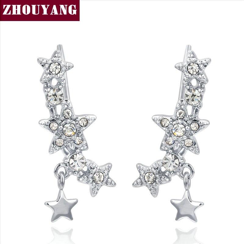 Top Quality 2015 New Design Star Rose Gold Color Ear Hook Stud ...