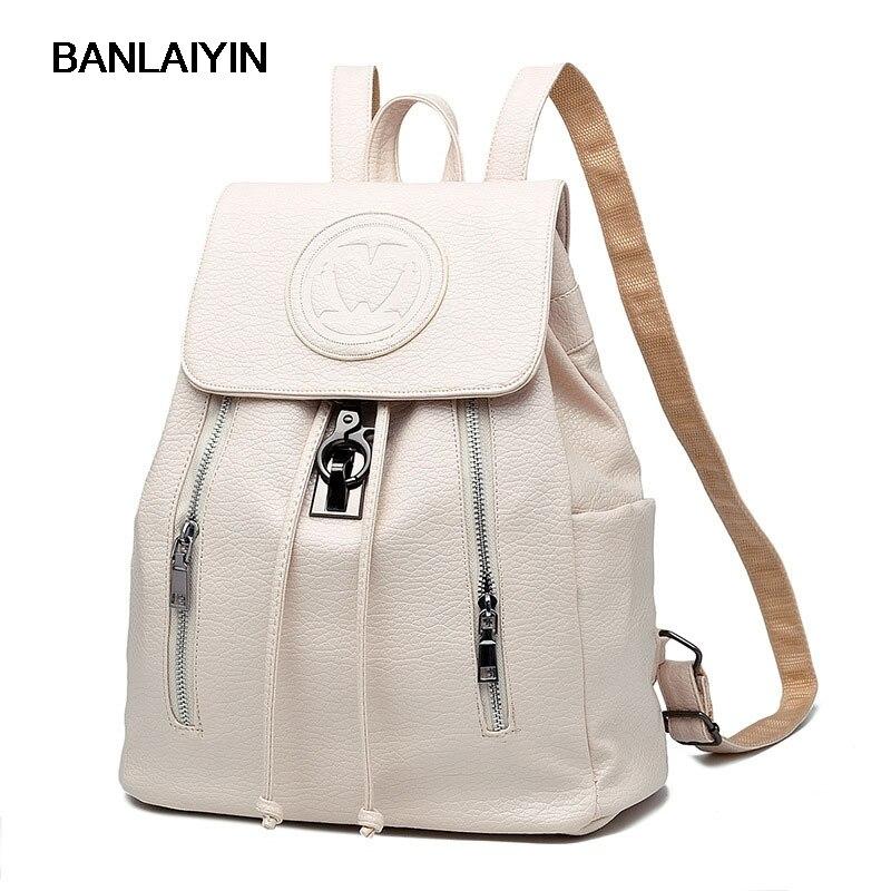 Belle nouvelle mode filles sac à dos en cuir PU gaufrage sacs d'école femme sac à dos dame souple voyage sac à dos Blak rose blanc