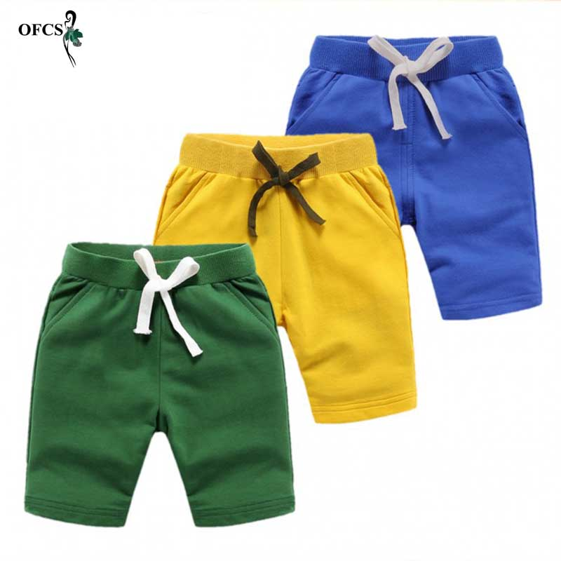 Baby Boys Good quality   Shorts   Colorful Summer Fashion Cotton Trousers Kids Boys Solid Beach   Shorts   Children's Pants Clothing 18M