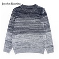 Jocelyn Katrina 2017 New Leisure Kids Children's Clothing Boy Autumn Checked Knit Sweater Coat Cuhk Children 5-16Year