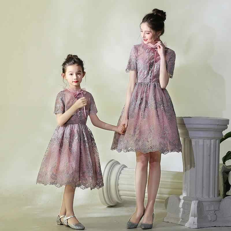37c9e20b4a Detail Feedback Questions about Mother Daughter Dresses 2018 Mommy ...