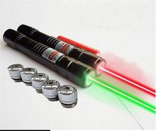 AAA NEW 5000000mW 532nm flashlight Powerful light green/red laser pointer lazer Focus Burning Beam Match Burn Cigarettes Hunting
