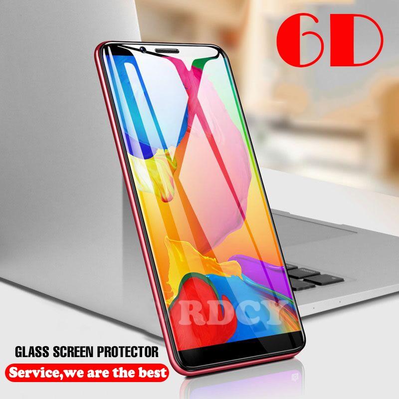 6D Protector Glass For Xiaomi Mi 8 9 Se CC9 A1 5X Full Glue Glass On Mi 9t K20 Cc9e Mi 8 Lite  POCO F1 A2 6X Redmi Note 7 8 Pro