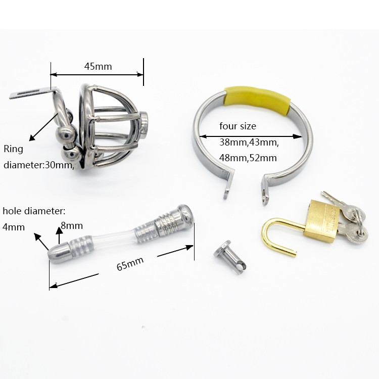 Stainless-Steel-Male-Chastity-Device-with-Catheter-Cock-Cage-Chastity-Belt-Penis-Ring-Virginity-Lock-Adult (4)