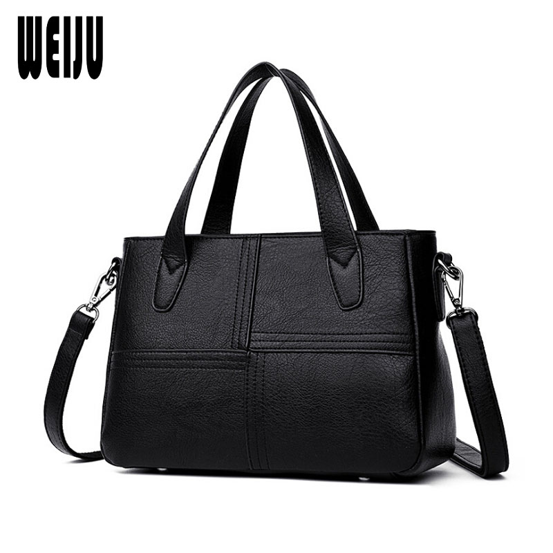 WEIJU PU Leather Women Handbag Bolsa Feminina 2018 New Female Bag Fashion Shoulder Bag Ladies Tote Messenger Bags 2017 new clutch steam punk female satchel handbag gothic women messenger bags shoulder bag bolsa shoulder bags tote bag clutches