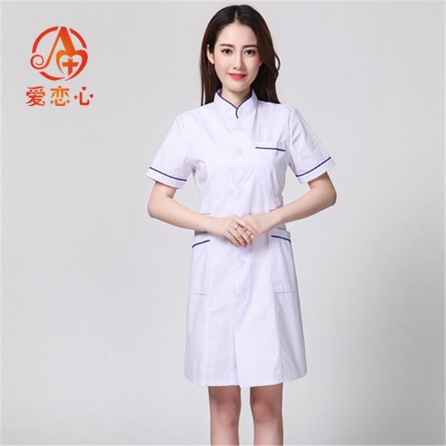 08f2317862f Long Sleeve Women/ White Medical Coat Nurse Services Uniform Medical Scrub  Clothes White Lab Coat Hospital Doctor Clothes-A&X